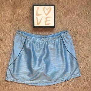 Nike Light Blue Metallic Skirt